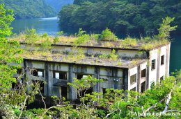 Partly Submerged Water Power Plant
