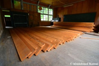 Wood Storage In Wooden School
