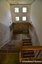Concrete Staircase Of An Abandoned School