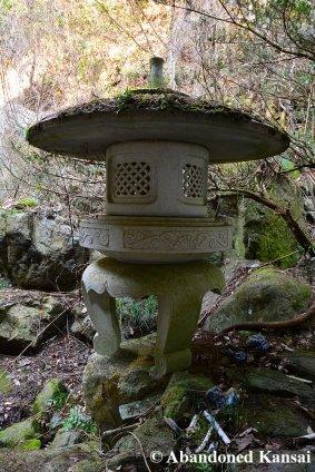 Large Abandoned Stone Lantern