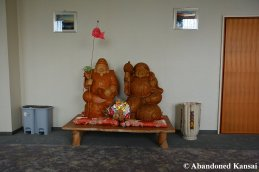 Two Big Wooden Statues
