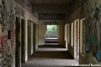 Concrete Hospital Hallway