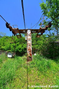 Abandoned Chairlift On A Sunny Day