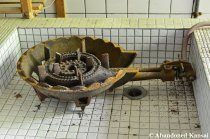 Gas Stove At An Deserted School Kitchen