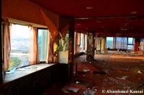 Vandalized Hotel Lounge