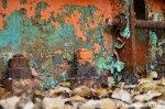 Orange Blue Rust