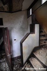 Abandoned Wooden Staircase In Bad Condition