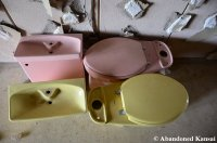 Pink And Yellow Toto Toilets