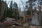 Collapsed House AtDusk