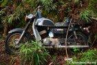 Abandoned Black Suzuki Motorbike