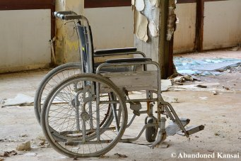 Abandoned Wheelchair In A Deserted Retirement Home