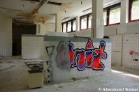 Empty Kitchen At An Abandoned Nursing Home