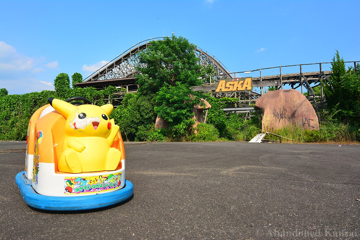 Pokemon Nakayoshi Drive ポケモンなかよしドライブ At The Abandoned Japanese Theme Park Nara Dreamland Os Oc Pokemon