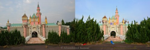 Nara Dreamland Castle In 2010 And 2016