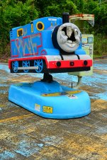 Vandalized Thomas The Tank Engine Ride