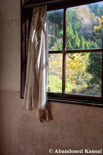 Curtains In An Abandoned School