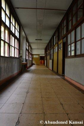 Hallway In An Abandoned School
