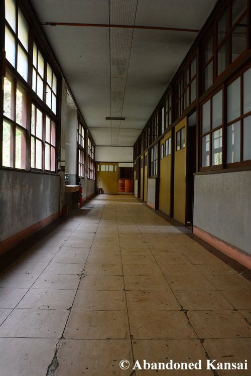 Hallway In An Abandoned School