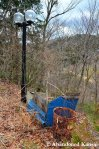 Abandoned Lamps And Rusty TrashBasket