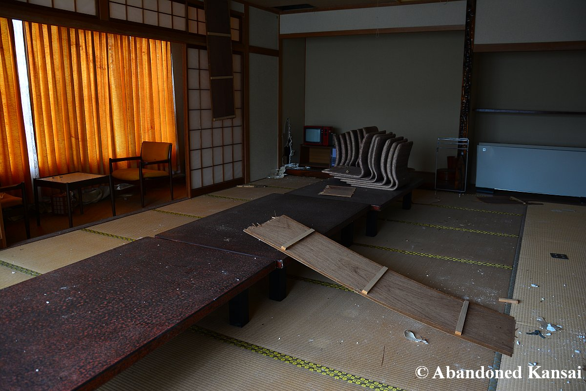 Japanese Style Room In A Deserted Japanese Hotel