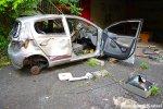 Abandoned & Vandalized Car