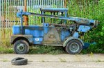 Abandoned Blue Machinery Car