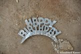 Abandoned Happy Birthday Sign