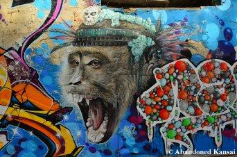 Impressive Monkey Graffiti