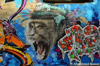 Impressive Monkey Graffiti