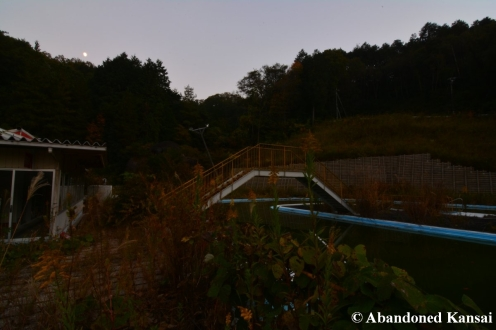 Abandoned Water Park At Night