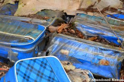 Abandoned Blue Bags