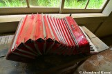 Abandoned Red Yamaha Accordion