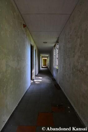 Empty Abandoned Hotel Hallway