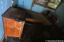 Old Hospital Bed And Night Table