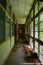 Wooden Hospital Hallway