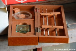Abandoned Wooden Medical Set