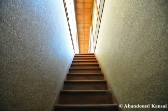 Steep Wooden Staircase