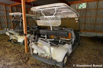 Deserted Golf Cart
