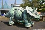 Abandoned Dinosaur Sculpture