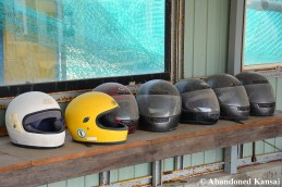 Abandoned Racing Helmets