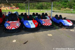 Abandoned Theme Park Racing Cars