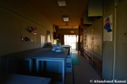 Closed Japanese Dormitory Room