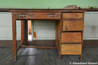 Abandoned Teacher's Desk
