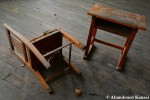 Wooden Elementary School Chair AndTable