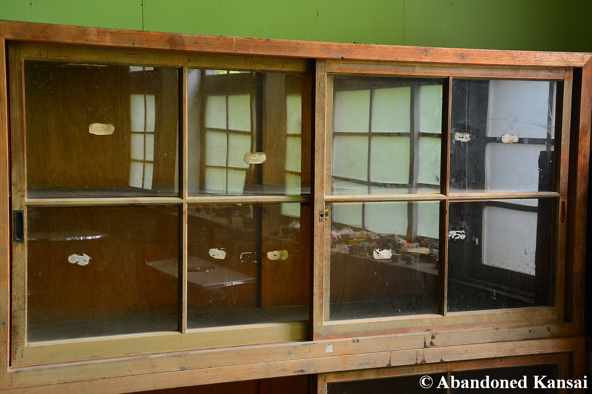 Wooden school cabinet abandoned kansai