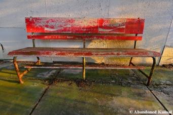 Wooden Coca Cola Bench