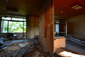 Vandalized Onsen Hotel Room