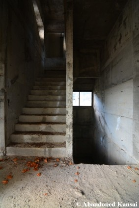 Unfinished Concrete Staircase