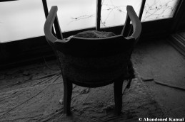Abandoned Showa Era Chair Monochrome