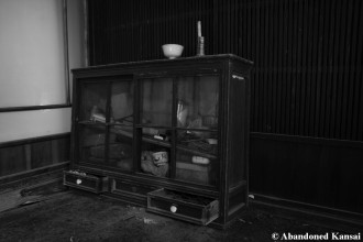 Abandoned Showa Era Kitchen Cabinet Monochrome